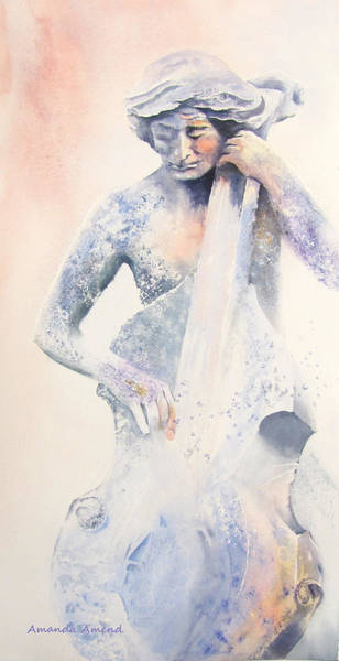 Cellist Painting - Transformation by Amanda Amend