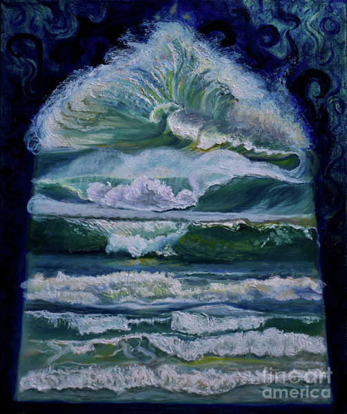 Painting - Transformed By God-waves Of Glory by Anne Cameron Cutri