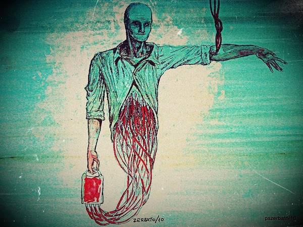 Exhaust Digital Art - Transfusion Uninterrupted by Paulo Zerbato