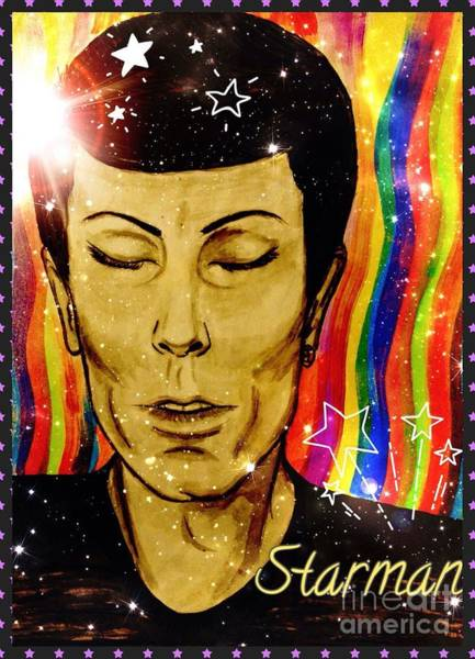 Starman Painting - Transient 2 by Joan-Violet Stretch