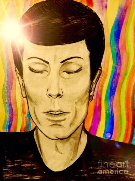 Starman Painting - Transient by Joan-Violet Stretch