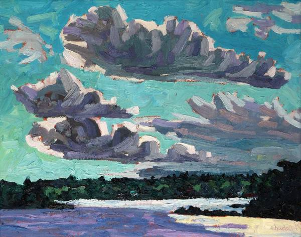 Stratocumulus Painting - Transitional Cumulus by Phil Chadwick