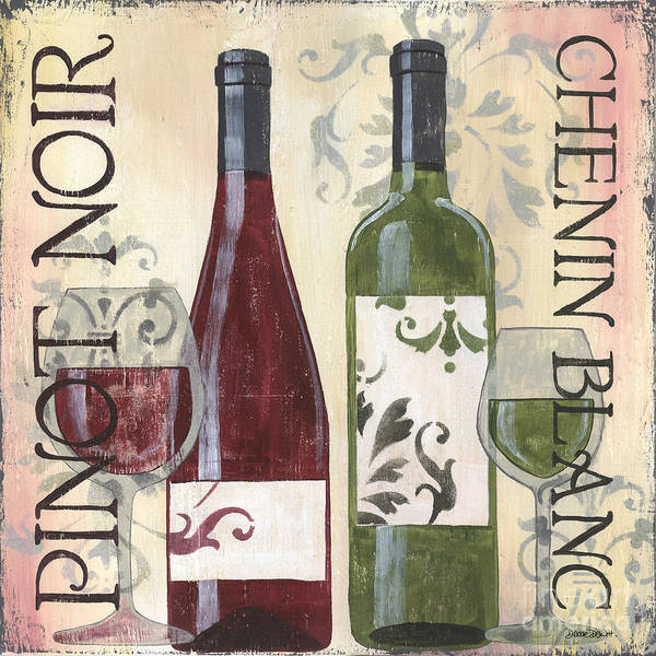 Bar Wall Art - Painting - Transitional Wine 1 by Debbie DeWitt