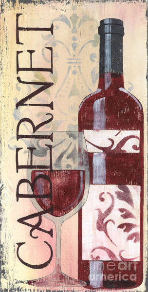 Label Painting - Transitional Wine Cabernet by Debbie DeWitt