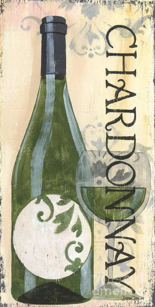 Label Painting - Transitional Wine Chardonnay by Debbie DeWitt