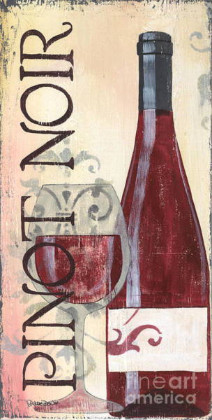 Label Painting - Transitional Wine Pinot Noir by Debbie DeWitt