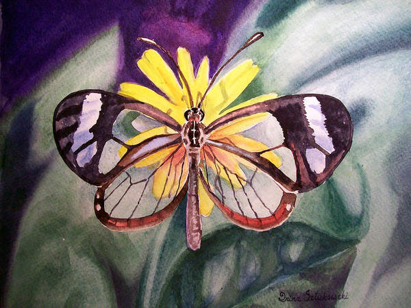 Painting - Transparent Butterfly by Irina Sztukowski