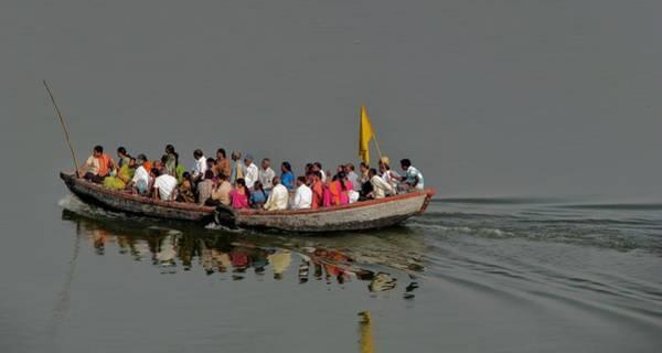 Photograph - Transport Across The Ganges-varanasi India by Duncan Davies
