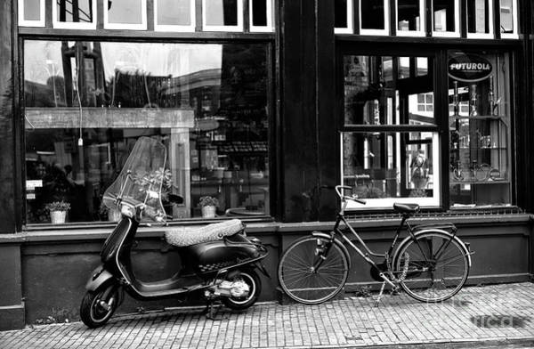 Photograph - Transportation Choice Mono by John Rizzuto