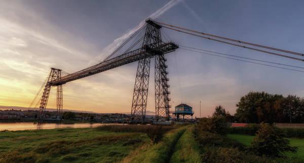 Transporter Wall Art - Photograph - Transporter Bridge Golden Hour by Nigel Jones