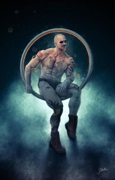 Digital Art - Trapeze Artist Seductive by Joaquin Abella