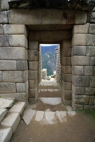 Photograph - Trapezoidal Door At Machu Picchu, Peru by Aidan Moran