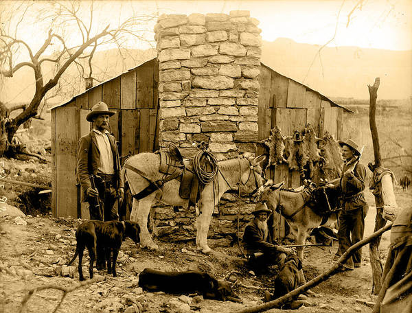 Wall Art - Photograph - Trappers Cabin Sepia by Unknown