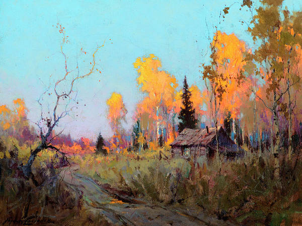 Wall Art - Painting - Trapper's Cabin by Sydney Mortimer Laurence