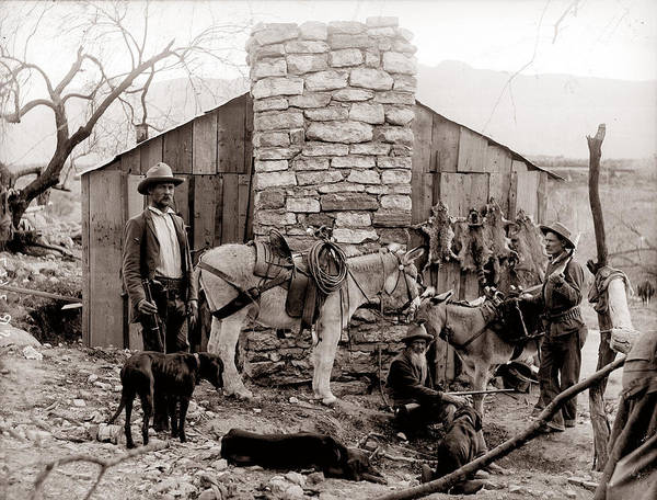 Unknown Photograph - Trappers Cabin by Unknown