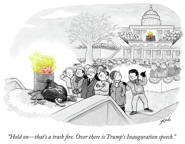 Trash Fire Inauguration Art Print