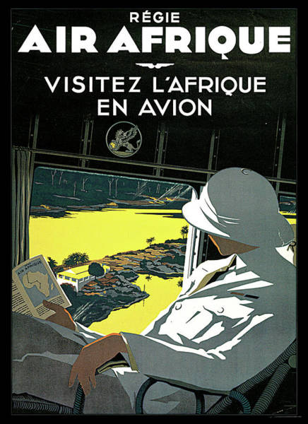 Photograph - Air Afrique by Travel Poster