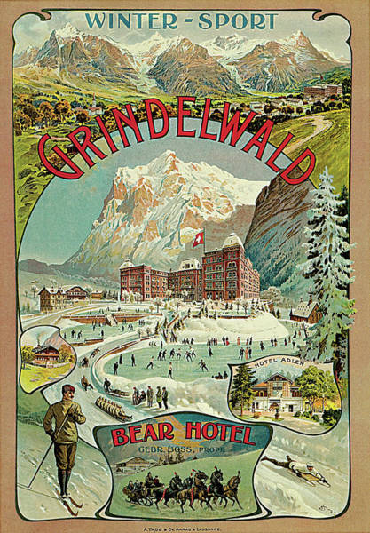 Photograph - Grindelwald by Unknown Artist