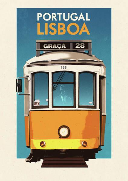 Lisbon Digital Art - Travel Posters - Lisbon Portugal by Rui Ricardo