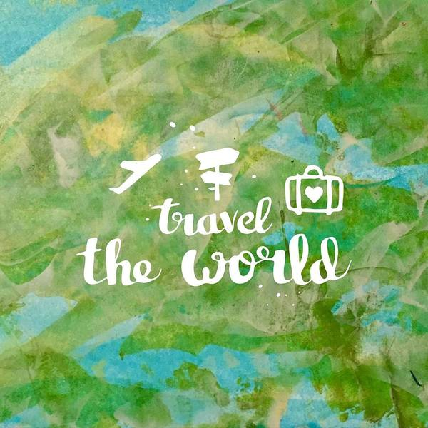Painting - Travel The World  by Monica Martin