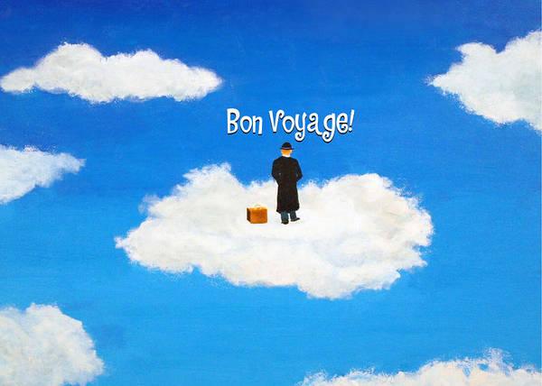Painting - Traveler - Bon Voyage - Greeting Card by Thomas Blood