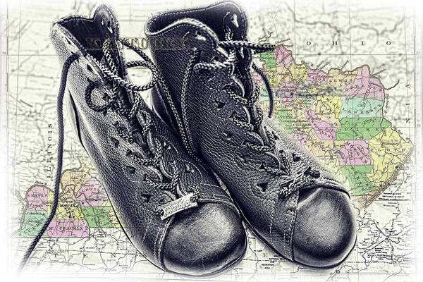Photograph - Traveling Boots Kentucky by Sharon Popek