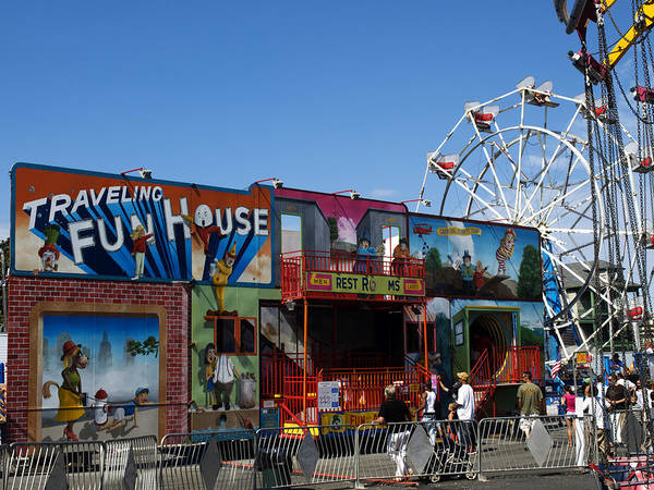 Photograph - Traveling Funhouse by Mary Capriole