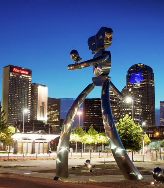 Photograph - Traveling Man Dallas Texas 063018 by Rospotte Photography