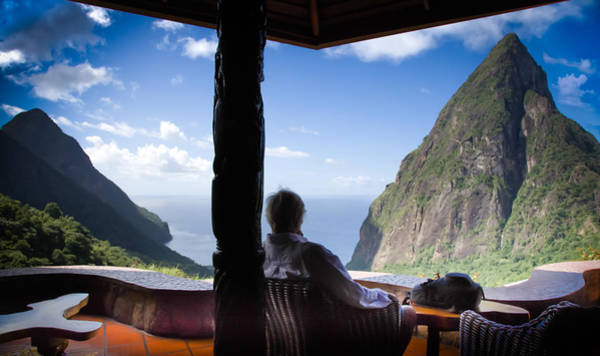 Saint Lucia Photograph - Traveling Thoughts by Karen Wiles