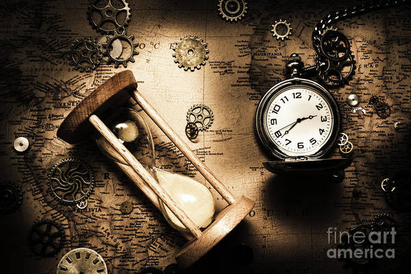 Clock Wall Art - Photograph - Travelling Old Worlds by Jorgo Photography - Wall Art Gallery