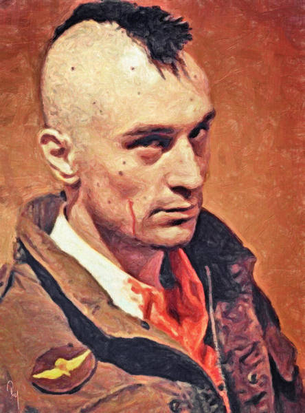 Serial Killer Painting - Travis Bickle by Zapista Zapista