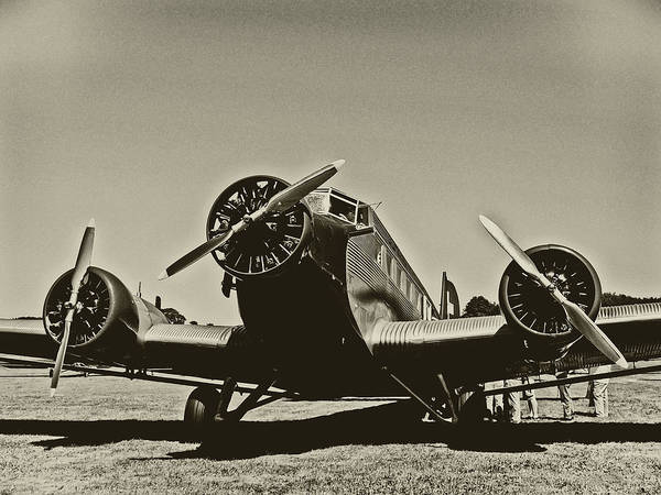 Ju-52 Wall Art - Photograph - Travelling Through Time by Hans Zimmer