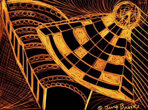 Drawing - Energy Field By Terry R. Brooks by Ben Upham
