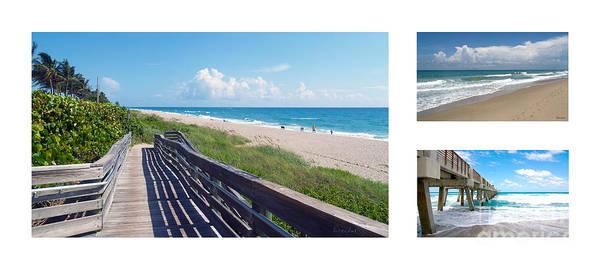 Photograph - Treasure Coast Florida Seascape Collage 2 by Ricardos Creations