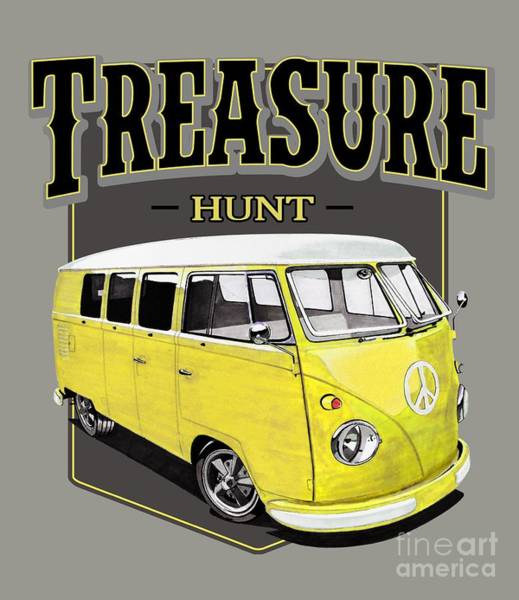 Treasure Hunt Wall Art - Digital Art - Treasure Hunt Bus by Paul Kuras
