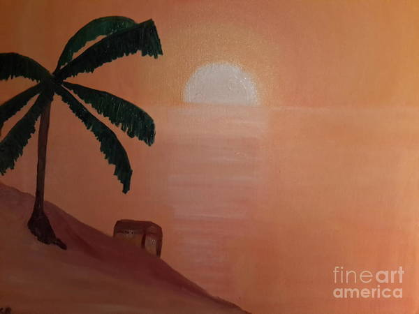 Buried Treasure Painting - Treasure Island by Cindy  Riley