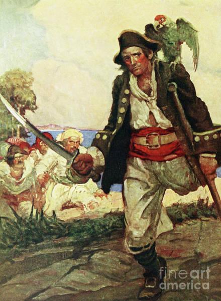 Pirates Painting - Treasure Island by Louis John Rhead