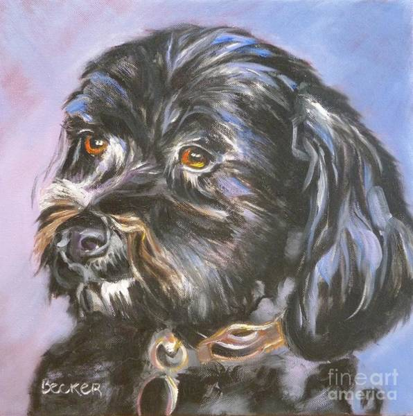Wall Art - Painting - Treasured Fur Child by Susan A Becker