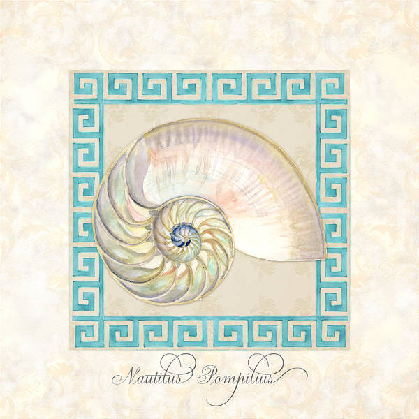 Wall Art - Painting - Treasures From The Sea - Nautilus Shell Interior by Audrey Jeanne Roberts