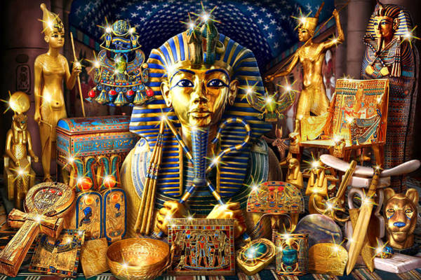 Andrew Farley Photograph - Treasures Of Egypt by MGL Meiklejohn Graphics Licensing