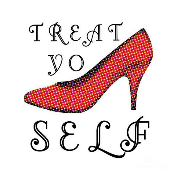 Yourself Digital Art - Treat Yo Self Tee by Edward Fielding