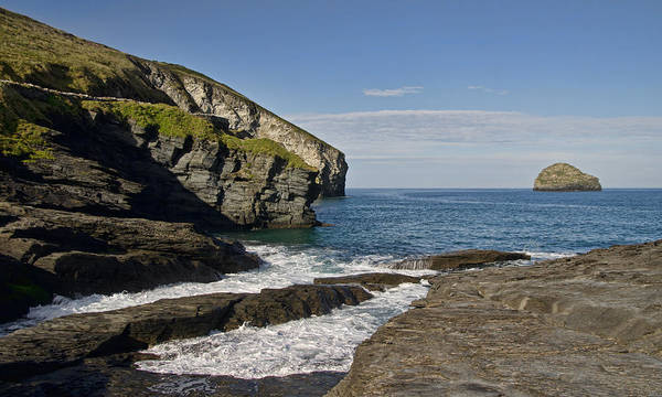 Photograph - Trebarwith Strand In North East Cornwall by Pete Hemington