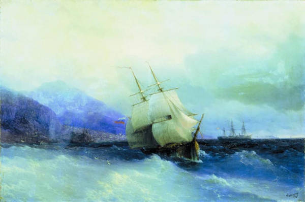 1875 Digital Art - Trebizond From The Sea 1875 61h94 Ivan Konstantinovich Aivazovsky by Eloisa Mannion