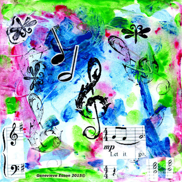 Classic Rock Mixed Media - Treble Mp by Genevieve Esson