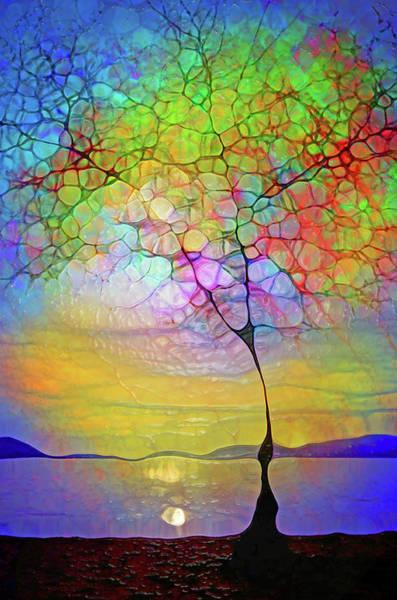 Distortions Digital Art - Tree Angels At Skaha Lake by Tara Turner
