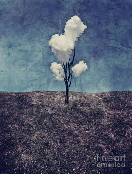 Surreal Landscape Wall Art - Digital Art - Tree Clouds 01d2 by Aimelle