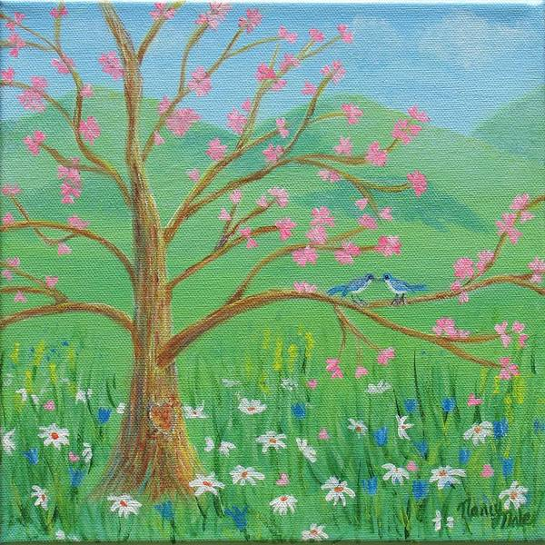 Painting - Tree For Two by Nancy Nale