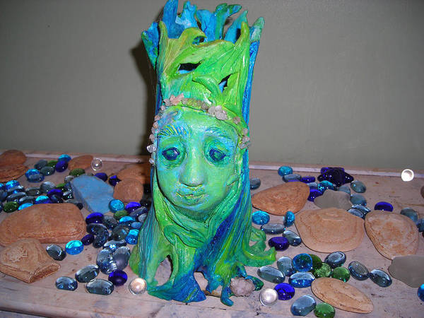 Wall Art - Mixed Media - Tree Goddess  by Diane Sellers