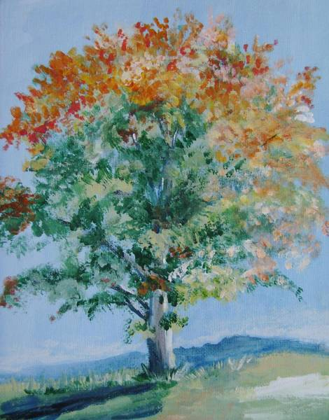 Wall Art - Painting - Tree In Autumn by Marsha Hale