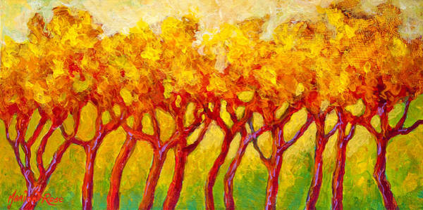 Wall Art - Painting - Tree Line by Marion Rose